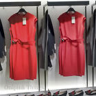 ZARA NEW F/W 2018. RED TUBE DRESS WITH CONTRASTING TOPSTITCHING. REF 1971/052.