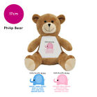 Personalised Name New Baby Boy Girl Philip Teddy Bear Gifts Gift Ideas Presents