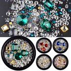 1 Pot Mixed style glitter 3d nail art decoration rhinestones caviar beads frame