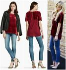 LUCKY+BRAND++LUXE++SOFT++VELVET+CONTRAST+TEE++TOP++Sz+XS++S++M++L++XL++NWT++%24+80