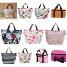 Stylish Dots Pattern Canvas Waterproof Zipper Travel Outdoor Storage Bag