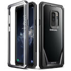 Poetic For Galaxy S9 Plus Case,Clear Back Shockproof Protective Cover Black