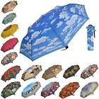 Mens Ladies Stunning Designs & Patterned Compact Folding Mini Brolly Umbrella
