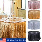 "48"" Round Sparkle Sequin Tablecloth Cover For Wedding Party Banquet Table Decor"