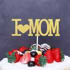 I love mom cupcake cakes toppers cake flags mother's day par