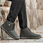 Winter Warm Men High Top Snow Boot Footwear Fur Lined Non slip Comfy Shoes