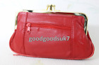 Ladies Soft Leather Ball Snap Clasp 2 Zips Purse Clutch /Coin Bag Wallet