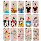 Pattern Hybrid Rubber Shockproof TPU Clear Back Cover Case for Apple iPhone 6S 7