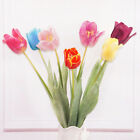 70cm ARTIFICIAL REAL TOUCH YELLOW BLUE PU TULIP FLOWER HOME DECOR PARTY WEDDING