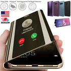 For Samsung Galaxy S9 S8+ Note8 Luxury S-view Mirror Smart Flip Stand Case Cover