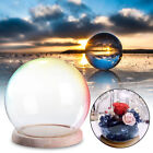 12cm/15cm Glass Stand Display Dome Cloche Globe Bell Jar Tealight Flower Cover