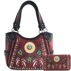 Justin West Western Tribal Dreamcatcher Feather CCW Concealed Carry Handbag