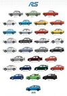 Ford Rs Evolution Classic Car Giant Poster - A5 A4 A3 A2 A1 Huge Sizes