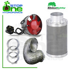 Rhino Hobby Carbon Filter Kit Odour Extraction Fan Hydroponic Aluminium Ducting