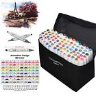 graphic designer pens - 80 Color Set Markers Pen Touch New Graphic Art Five Sketch Twin Tip Free Gift US