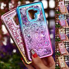 For Samsung Galaxy S9 /A8 Chrome Clear Quicksand Liquid Glitter Phone Case Cover