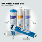 Complete 5 Stage Water Purifier Filter Set Sediment Carbon Inline 150 GPD RO New