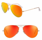 Ray-ban aviator new orange mirrored sunglasses lens for women, men Midle / Large