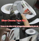 Glossy Silver Mirror Chrome Tape Film Vinyl , Car decoration 4inch Wide Adhesive