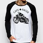 Cafe Racer classic Motorcycle triumph norton enfield baseball t-shirt FN $21.97 CAD on eBay