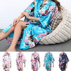 Silk Satin Kimono Robe Dressing Gown Wedding Bridesmaid Sleepwear Bathrobe UK