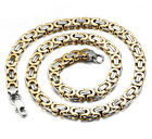 2018 New Men's Boys Silver Golden Cool Pop Stainless Steel Necklace Chains 9mm