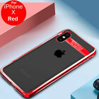 Slim Luxury Plated Frame Transparent Soft Phone Case Cover For iPhone X 7 8 6