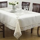 Fennco Styles Embroidered And Cutwork Tablecloth - 6 Sizes
