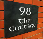 ENGRAVED SLATE HOUSE NAME NUMBER SIGN PLAQUE