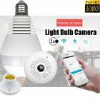 Mini Security IP Camera 360° Panoramic Hidden 1080P Wifi Wireless Infrared Bulb