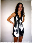 Stunning Wraparound V Neck Sleeveless Vest Dress Cobain Guitar Summer Festival