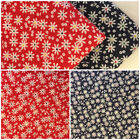 Per F/Q 1/2 Metre Red Navy Daisy Floral Polycotton Fabric Bunting Dressmaking
