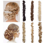 US Wrap Around Bendable Hair Piece Updo Twirl Messy Bun Natural Hair Extensions