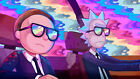 Rick And Morty TV Show Psychedelic Poster Print T226