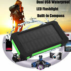 10000mAh Dual USB Light Solar Battery Charger Power Bank for Phone Devices US