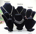 Velvet Necklace Pendant Chain Jewelry Bust Display Holder Stand Brand Gxn