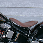 Universal Bobber Chopper Motorcycle Spring Solo Seat Distressed Soft Leather Kit $69.99 USD on eBay