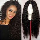 360 Lace Frontal Glueless 100% Virgin Brazilian Human Hair Wig Pre Plucked Black