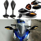 MOTORCYCLE LED TURN SIGNALS SIDE MIRRORS FOR KAWASAKI NINJA Honda VFR 800 CBR900 $34.89 USD on eBay