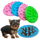 Cat-design Cat Food Bowl and Mat in One Non-slip Silicone Pet Dish Dishes Dog