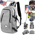 Laptop Backpack MacBook Travel Bag Anti Theft Water College w/ USB Charging Port
