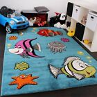Colourful Children Room Rug Underwater World Soft Play Mat Kids Nursery Carpet