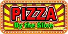 (CHOOSE YOUR SIZE) Pizza By the slice DECAL Concession Food Truck Vinyl Sticker
