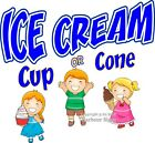 Ice Cream Cup Cone DECAL (CHOOSE YOUR SIZE) Food Truck Sign Concession Sticker