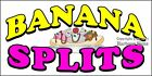 (CHOOSE YOUR SIZE) Banana Splits DECAL Concession Food Truck Vinyl Sticker