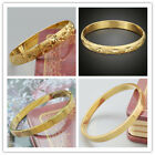 Charm 18k Yellow Gold Filled Bracelet Openable Fashion Bangle Engagement Jewelry image