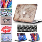 2in1  Striate Marble Pattern Design Matte Hard Case Shell for MacBook Air 13.3""