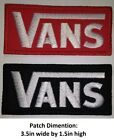 **LOVE IT OR ITS FREE** VANS Embroidered Patch Iron on DIY, FREE SHIPPING