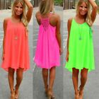 Sexy Women Girls Summer Candy Color Beach Dress Chiffon Swimwear Cover Up
