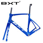 Full Carbon Road Bike Frame Fork Seatpost 700C BSA Racing Framesets Glossy/Matt